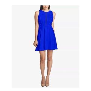 Guess Los Angeles Cobalt Sleeveless Mesh Dress